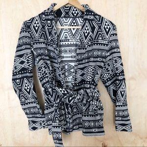 H&M Aztec Print Jacket Size 20